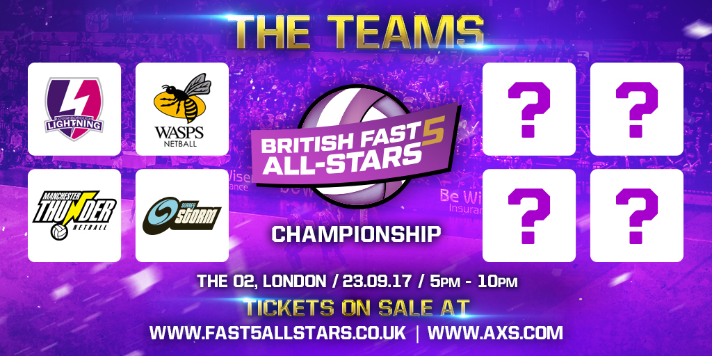 FIRST FOUR CONFIRMED FOR BRITISH FAST5 ALL-STAR CHAMPIONSHIP