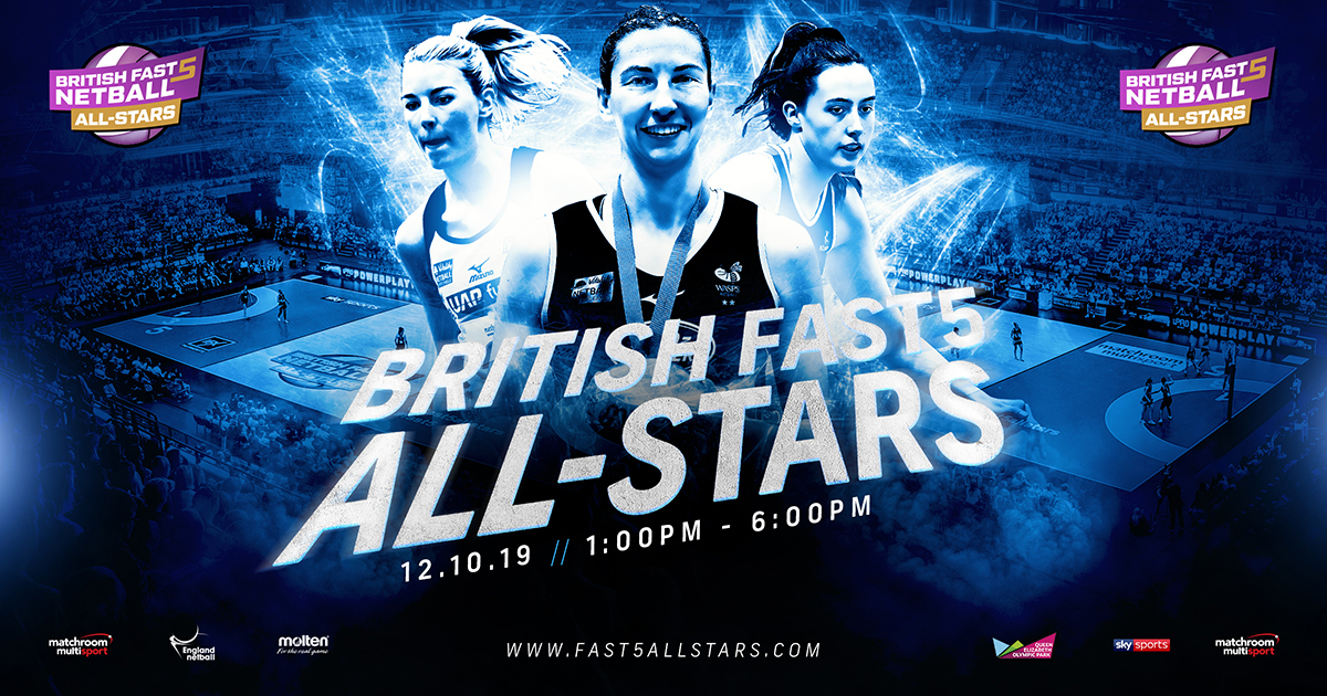 BRITISH FAST5 ALL-STARS NETBALL CHAMPIONSHIP RETURNS OCTOBER 12
