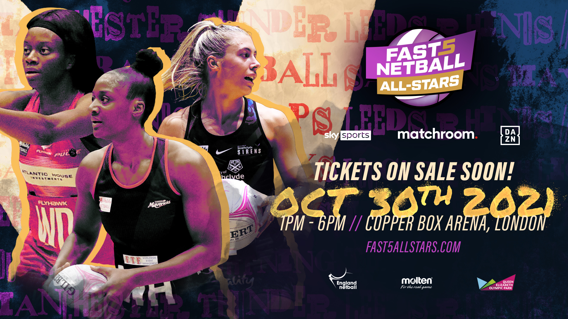 British Fast5 Netball All-Stars Championship returns this October with tickets on sale Friday!